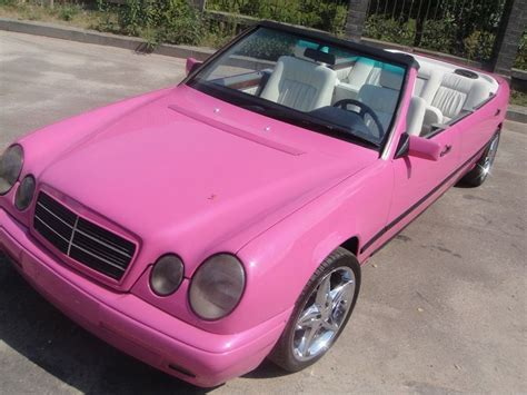 pink sparkly mercedes pink glitter convertible mercedes