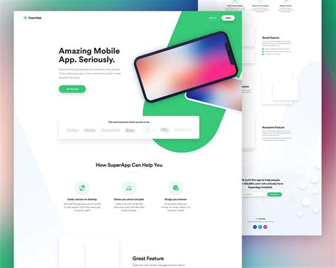 App Website Template by Free Mobile App Website Template Psd Psd