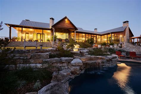 hill country ranch estate rustic exterior austin
