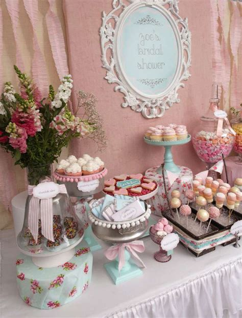 vintage shabby chic bridal wedding shower party ideas photo 52 of 54 catch my party