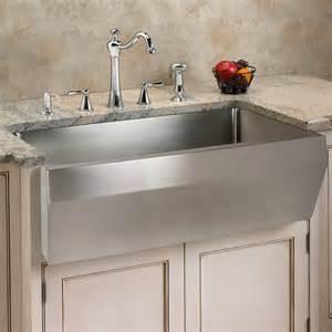 Stainless Steel Farmhouse Kitchen Sinks Optimum Stainless Steel Farmhouse Sink Angled Front Contemporary Kitchen Sinks By
