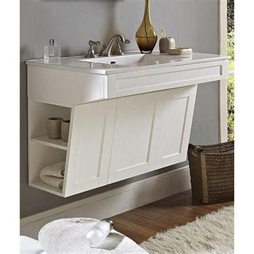 Fairmont designs shaker 36 quot wall mount ada vanity polar white free shipping modern bathroom