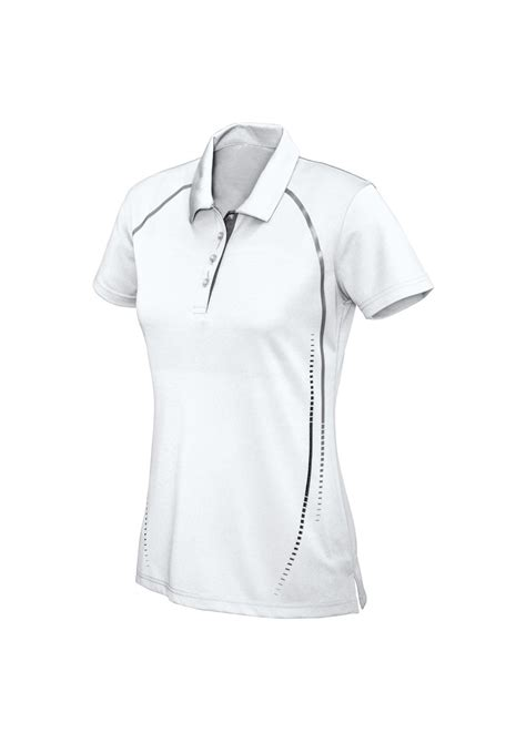 white and silver ls ladies cyber breathable polo shirt the uniform centre