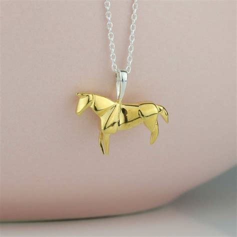 gold origami stunning gold origami necklace by nest
