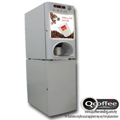 Instant Coffee Vending 2 flavors instant coffee machine with base auto cups package qcoffee vending instant