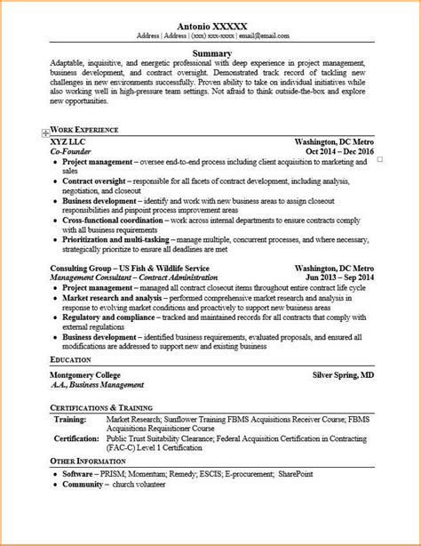 Startup Resume by Including Your Startup Self Employment Or Business On A