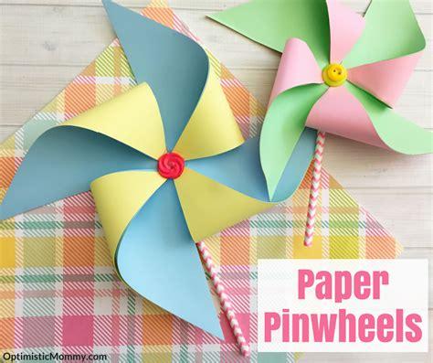 Make Paper Pinwheels - paper pinwheels tutorial craft for
