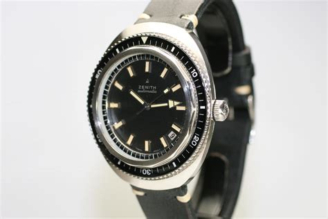 1970 zenith divers for sale mens vintage time only