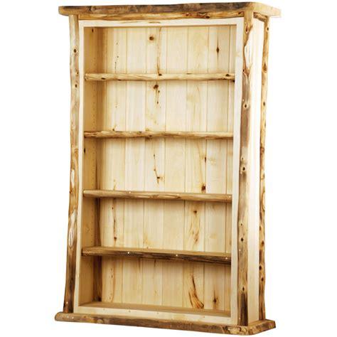 rustic aspen large bookcase