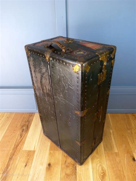 large trunk antiques atlas large steamer shipping trunk