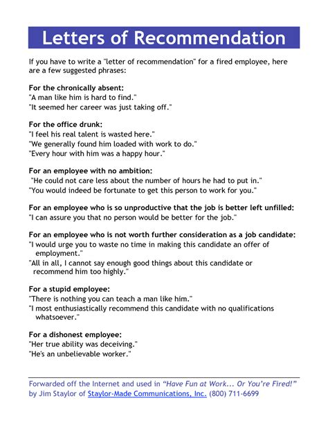 employee recommendation letter template template of letter of recommendation for an employee