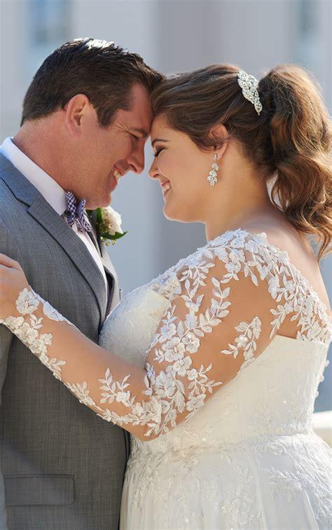 long sleeved casual  size wedding dress stella york