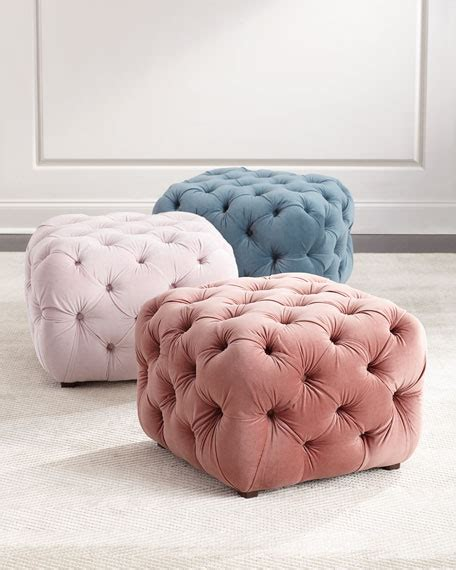 How To Make Tufted Ottoman Busby Tufted Cube Ottoman