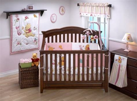 Winnie The Pooh Nursery Bedding Sets Disney Winnie The Pooh Sweet As Hunny 3pc Crib Baby Nursery Bedding Set Pink With Purple Green