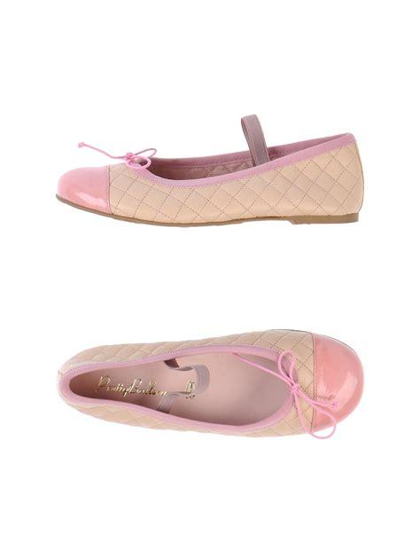 beige ballet slippers pretty ballerinas ballet flats in beige lyst