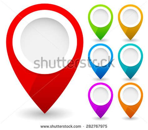 maps marker color map marker map pin vector map immagine vettoriale stock