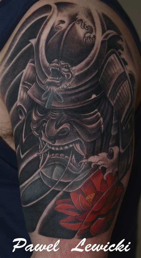 japanese warrior tattoos japanese warrior mask tatuering ny