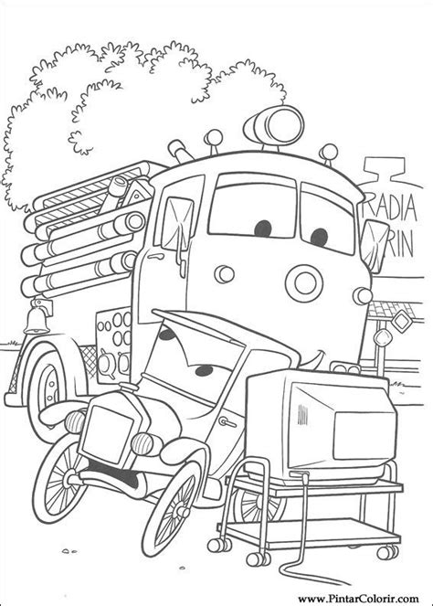 red fire truck cars coloring page ritningar att m 229 la f 228 rg bilar print design 083