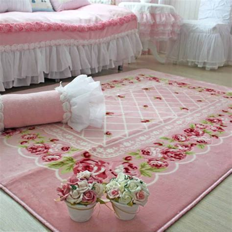 decorating with one pink chic went shopping and redone my shabby chic rug