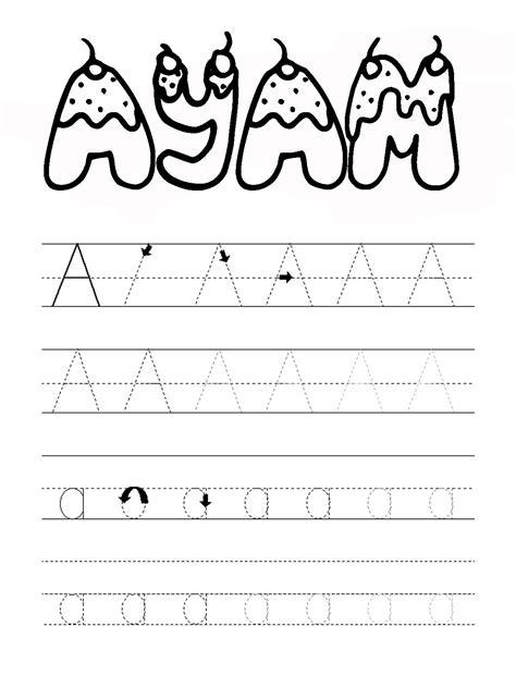 printable abjad mewarnai huruf abjad a mewarnai gambar