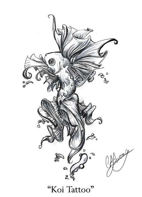 koi fish tattoo drawing design 30 koi fish designs with meanings