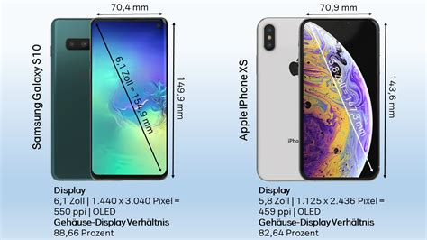 Samsung Galaxy S10 Or Iphone Xs by Im Vergleich Iphone Xs Vs Galaxy S10 A1blog