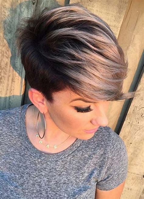 pictures womens hairstyles long on top short on sides 100 short hairstyles for women pixie bob undercut hair