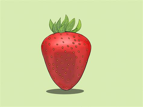 strawberry face shape how to draw strawberries 11 steps with pictures wikihow