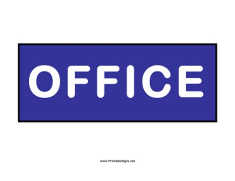 printable office sign