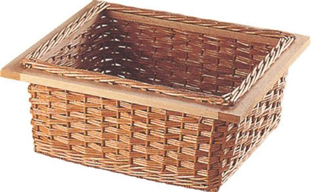 kitchen cabinet baskets wicker baskets for 400 600 mm width cabinets 540 57 001