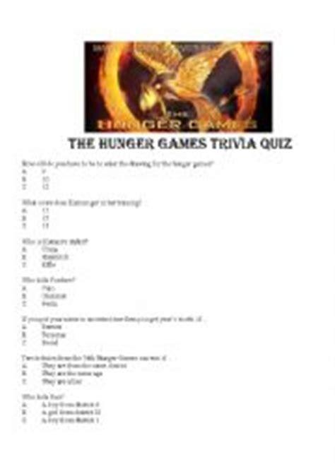 printable hunger games quiz english worksheets games worksheets page 192