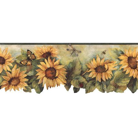 Sunflower Border Wallpaper norwall die cut sunflower wallpaper border bg71362dc the