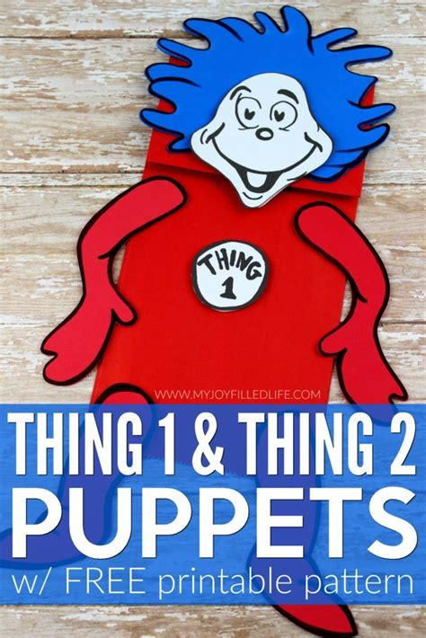 thing 1 and thing 2 printable template free puppet printables thing 1 thing 2