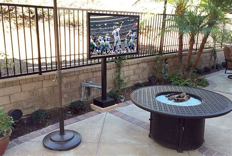 Outdoor Patio Tv Mounts by Custom Built In Entertainment Centers And Home Office