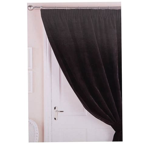 draft excluder curtains velvet thermal door curtain 117x213cm energy saver draught