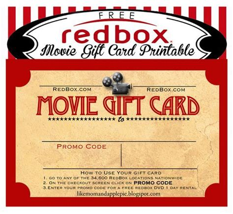 Physical Redbox Gift Card - 1000 ideas about redbox gift card on pinterest gift cards for less movie night