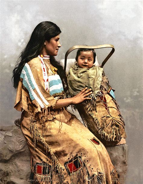 Hawaiian Shower Curtains Ojibwas Equal And Papoose 1903 Photograph By Known