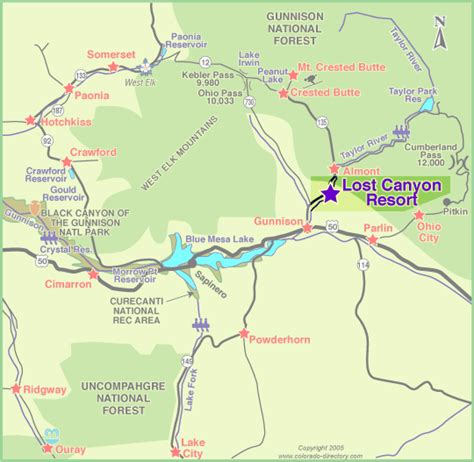 southwest colorado fly fishing map lost resort cabins on the beautiful gunnison