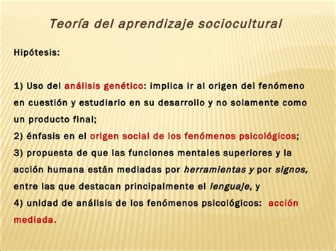 modelo de aprendizaje sociocultural de lev vygotsky teoria sociocultural de lev vigotsky