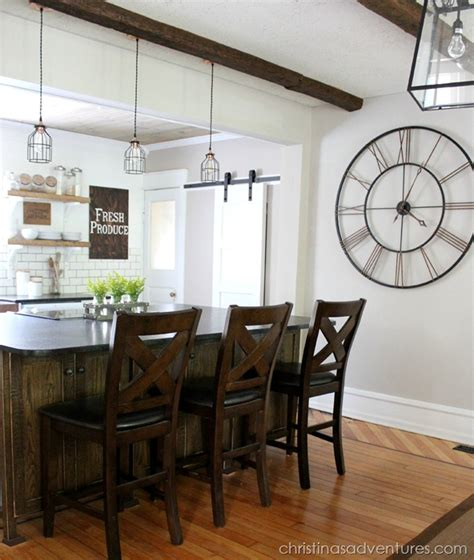 farmhouse kitchen light industrial pendants for farmhouse kitchen makeover blog