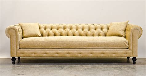 Chenille Chesterfield Sofa Yellow Chenille Chesterfield Sofas