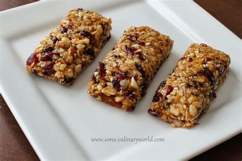 uma s culinary world chewy granola bars
