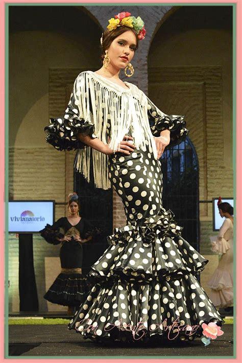 Traje De Flamenca Negro De Lunares Blancos De Luisa Perez En We Love | mejores 7 im 225 genes de wappissima en pinterest moda