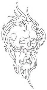 tribal skull outline 08 by vikingtattoo on deviantart