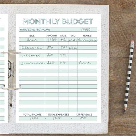 Budget Planner Worksheet