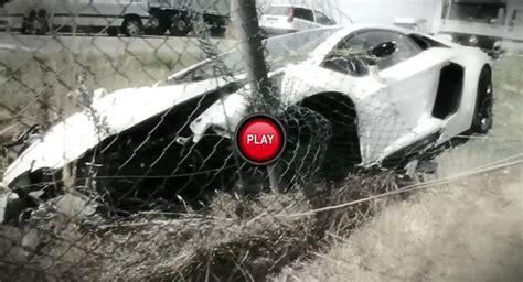 Italian Lamborghini Crash Footage From The Lamborghini Aventador Lp700 4 Crash