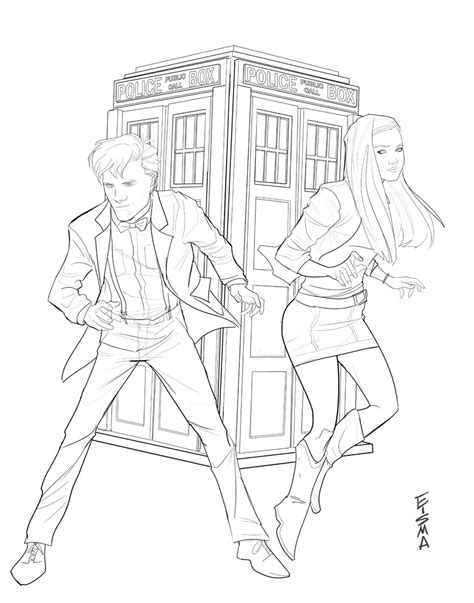 dr who and amy pond by supajoe on deviantart