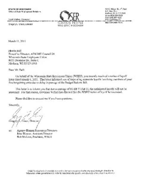 image gallery layoff notice