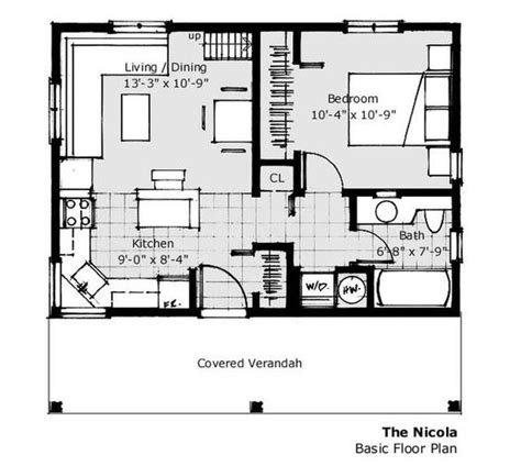Small Houses House And House Plans On Pinterest 20 X 20 Guest House Plans
