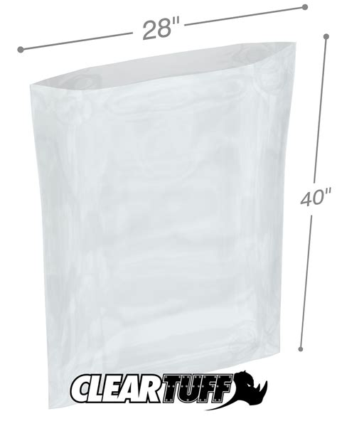 Polybag Polibag 40 X 40 28 quot x 40 quot 3 mil poly bags